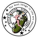 atom bomb diner candy logo